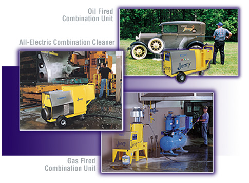 Oil Fired and Gas Fired and All Electric Combination Steam Cleaner and Pressure Washer and Power Washer